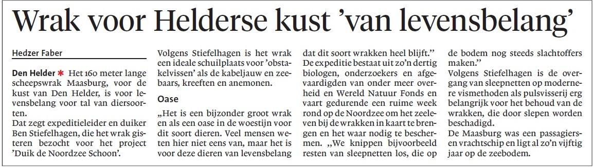 20140900-Wrak_voor_Helderse_kust_van_levensbelang